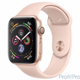 Apple Watch Series 4, 40 мм, корпус из алюминия золотого цвета, спортивный ремешок цвета «розовый песок» [MU682RU/A]