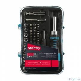 Smartbuy Отверткиснаборомбит(насадок)65предметов,2отвертки,52биты,9головок,CR-V,SmartbuyTools [SBT-SCBS-65P1]