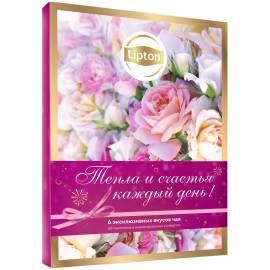 """Подарочный набор чая Lipton """"Discovery. Тепла и счастья"""", 6 видов, 65 пакетиков, картон. кор."""