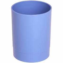 "Подставка-стакан Стамм ""Офис. Voyage. Berlin"", пластик, круглый, голубой"