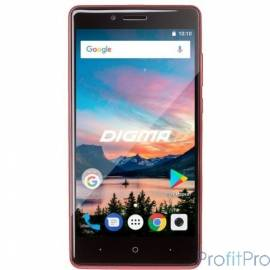 "Смартфон Digma Q500 3G HIT 8Gb красный моноблок 3G 2Sim 5"" TN 480x854 And7.0 5Mpix WiFi BT GPS [486244]"