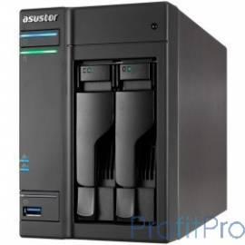 Asustor AS6302T Сетевое хранилище 2-Bay, Intel Celeron Dual-Core, 2GB SO-DIMM DDR3L, GbE x 2, USB 3.0 Type A x3 & USB 3.0 Type