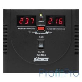Powerman Стабилизаторы напряжения AVS 500D Black (220В±8% 500ВА,5А,КПД 98%, циф. индикация вх./вых.)