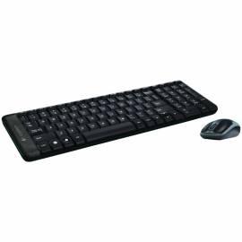 Комплект клавиатура + мышь беспроводной Logitech Combo MK220, черный