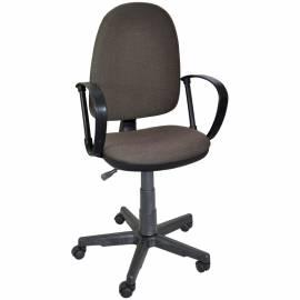 """Кресло оператора """"Престиж"""", ткань коричнево-бежевая В28"""