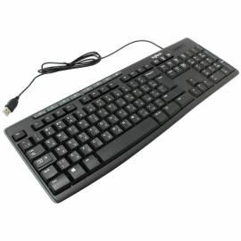 Клавиатура Logitech K200, USB, мультимедийная, черный