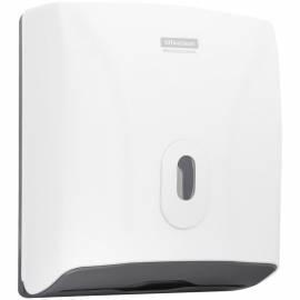 Диспенсер для полотенец листовых OfficeClean Professional (V-сл.), ABS-пластик, механич., белый