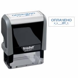 """Штамп Trodat """"ОПЛАЧЕНО, дата"""" 4911/DB/L 3.13, 38*14мм, синий"""