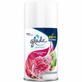 """Сменный баллон для освежителя воздуха Glade Automatic """"Пион и сочные ягоды"""", 269мл"""