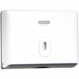 Диспенсер для полотенец листовых OfficeClean Professional (Z-сл.), ABS-пластик, механич., белый