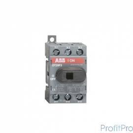 АВВ 1SCA104857R1001 Рубильник OT25F3 до 25А 3х-полюсный для установки на DIN-рейку или монтажную плату (с резерв. ручкой)
