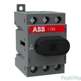 АВВ 1SCA104902R1001 Рубильник OT40F3 до 40А 3х-полюсный для установки на DIN-рейку или монтажную плату (с резерв. ручкой)