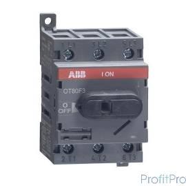 АВВ 1SCA105798R1001 Рубильник OT80F3 до 80А 3х-полюсный для установки на DIN-рейку или монтажную плату (с резерв. ручкой)