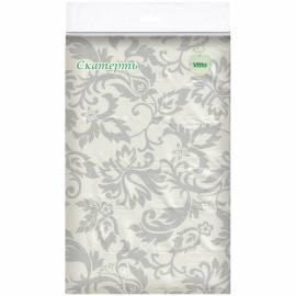 """Скатерть Vitto """"Prestige"""", 120*180, бумажная с полимерным покрытием, тиснение, рисунок, белая"""