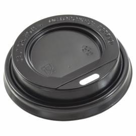 Крышка с питейником, для горячих напитков, 80мм, черная