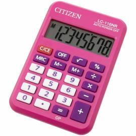 Калькулятор карманный Citizen LC-110NRPK, 8 разр., питание от батарейки, 58*88*11мм, розовый