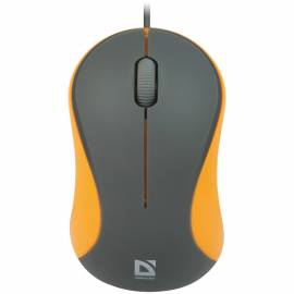 Мышь Defender Accura MS-970, USB, оранжевый, серый, 2btn+Roll