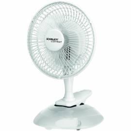 Вентилятор настольный Scarlett SC-DF111S01, на прещепке, белый