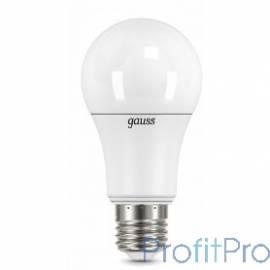 GAUSS 102502212 Светодиодная лампа LED A60 шар 12W E27 1200lm 4100K 1/10/50