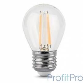 GAUSS 105802105 Светодиодная лампа LED Filament Шар E27 5W 420lm 2700K 1/10/50