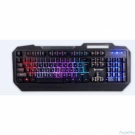 Qcyber IRON SKILL Игровая клавиатура Мембранного типа. RGB подсветка, металлический корпус, подсветка двух шрифтов, держатель д