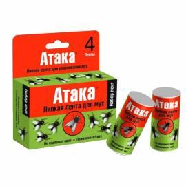 Липкая лента для мух Атака, 4шт., картонная коробка