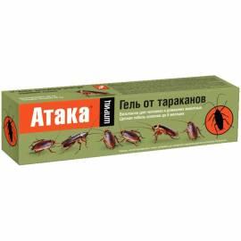 Гель от тараканов и муравьев Атака, шприц, 20мл, картонная коробка