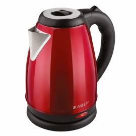 Чайник электрический Scarlett SC-EK21S79, 2л, 2000Вт, нержавеющая сталь, красный