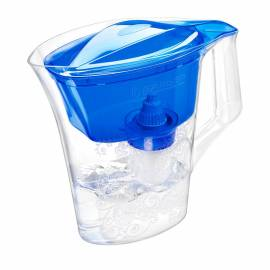 """Кувшин-фильтр для воды Барьер """"Танго"""" синий с узором, с картриджем, 2,5л, без индикатора"""