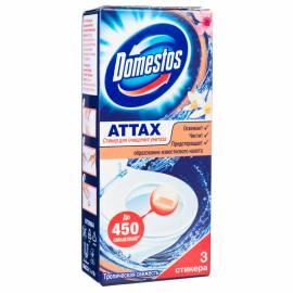 """Стикер для очищения унитаза Domestos """"Тропическая свежесть"""", 3*10г, картонная коробка"""