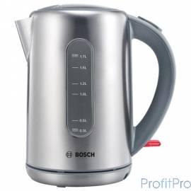 Чайник Bosch TWK 7901, нерж. сталь, мощность 2200 Вт, 1,7л