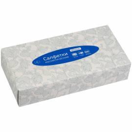 Салфетки косметические OfficeClean, 2-х слойн., 20*20см, в картонном боксе, белые, 100шт.
