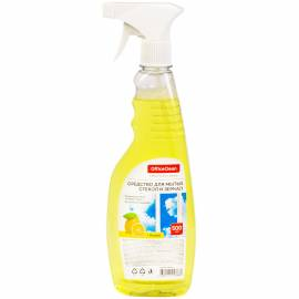 "Средство для мытья стекол и зеркал OfficeClean ""Лимон"" 500мл, с курком"