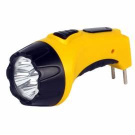 Фонарь Smartbuy SBF-84-Y, светодиодный, аккумуляторный, 4 LED, прямая зарядка от сети, желтый