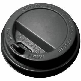Крышка с питейником, для горячих напитков, АртПласт, 80мм, черная