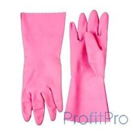 """Перчатки ЗУБР """"МАСТЕР"""" латексные, повышенной прочности, х/б напыление, рифлёные, 100% латекс, 100% хлопок, размер M [11250-M]"""