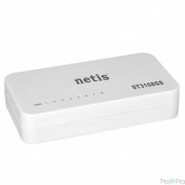 Netis ST3108GS Коммутатор, неуправляемый, 8-портовый гигабитный 10/100/1000 Мбит/с, настольный, пластиковый корпус
