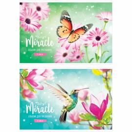 """Альбом для рисования 24л., А4, на скрепке ArtSpace """"Цветы. Miracle"""", обложка-офсет"""