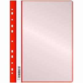 Папка с 10 вкладышами OfficeSpace, с перфорацией, 160 мкм, красная