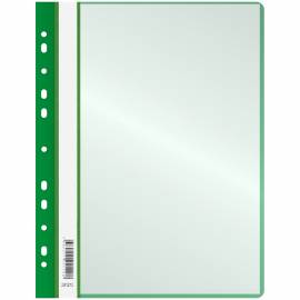 Папка с 10 вкладышами OfficeSpace, с перфорацией, 160 мкм, зеленая