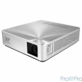 ASUS S1 Проектор DLP, LED, WVGA 854x480, 200Lm, 1000:1, HDMI, MHL, 1x2W speaker, led 30000hrs, battery, Silver, 0.342kg