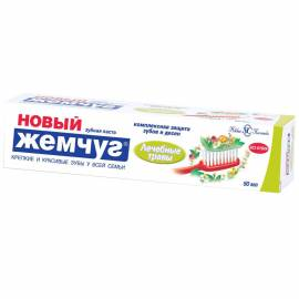 """Зубная паста Новый Жемчуг """"Лечебные травы"""", 50мл"""