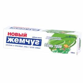 "Зубная паста Новый Жемчуг ""Семь трав"", 100мл"
