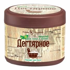 """Мыло Невская Косметика """"Дегтярное"""", для тела и волос, 300мл"""