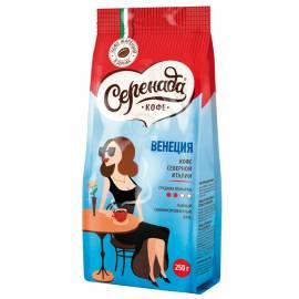 """Кофе в зернах Серенада """"Венеция"""", мягкая упаковка, 250г"""