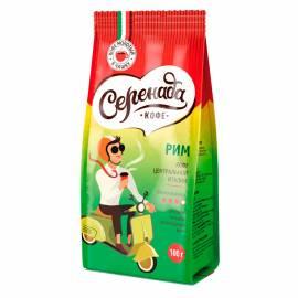 """Кофе молотый Серенада """"Рим"""", для заваривания в чашке, вакуумный пакет, 100г"""