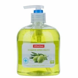 """Мыло-крем жидкое OfficeClean """"Нежное"""", антибактериальное, с маслом оливы, с дозатором, 500мл"""