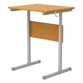 Стол-парта 1 мест. регул. 640-760*600*500 Ш-301 (4-6) бук