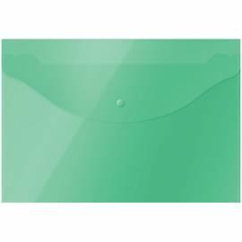 Папка-конверт на кнопке OfficeSpace А4, 120мкм, зеленая