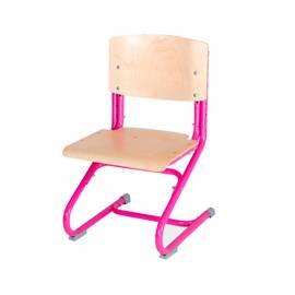 Стул ученический регул. ДЭМИ СУТ 01-01, фанера, каркас розовый